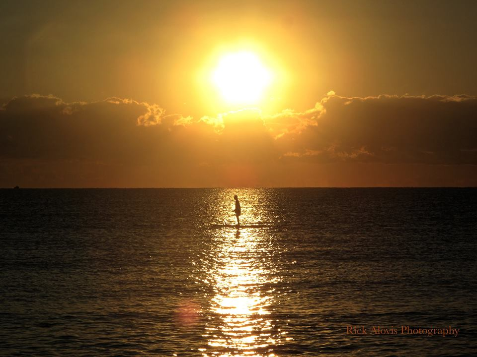 The Sunrise Paddleboarder