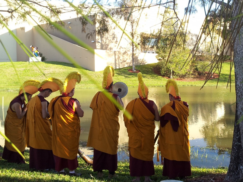 Monks by The Coral Springs Musuem pond