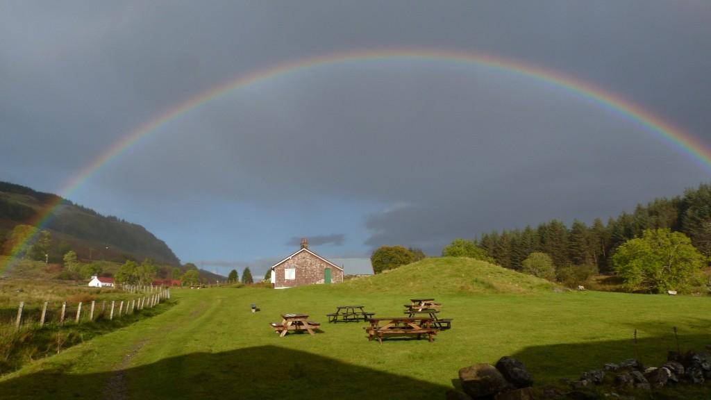 rain sun rainbow